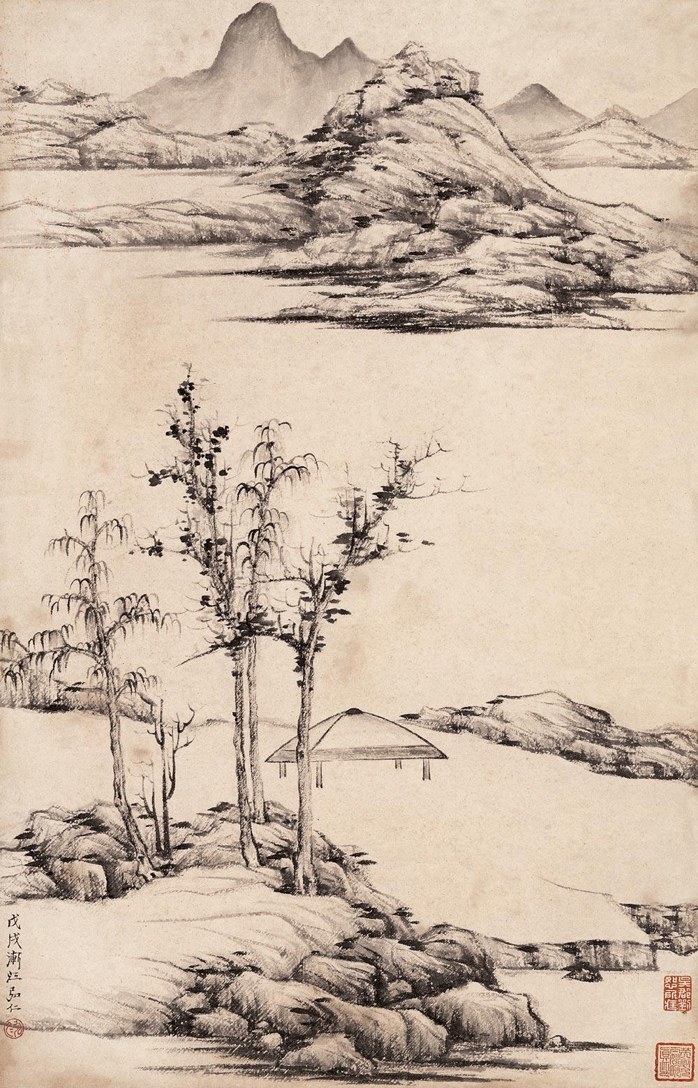 弘仁_弘 仁-中国山水画艺术网