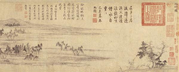 元 赵孟頫 水村图卷
