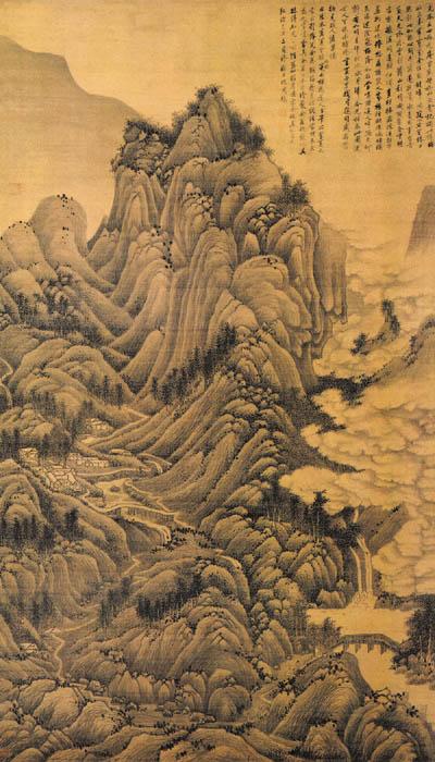 《夏云欲雨图》轴,明,刘珏