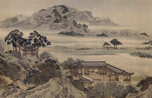 《绿墅堂图》卷,清乾隆四十三年(1778年),袁杓绘