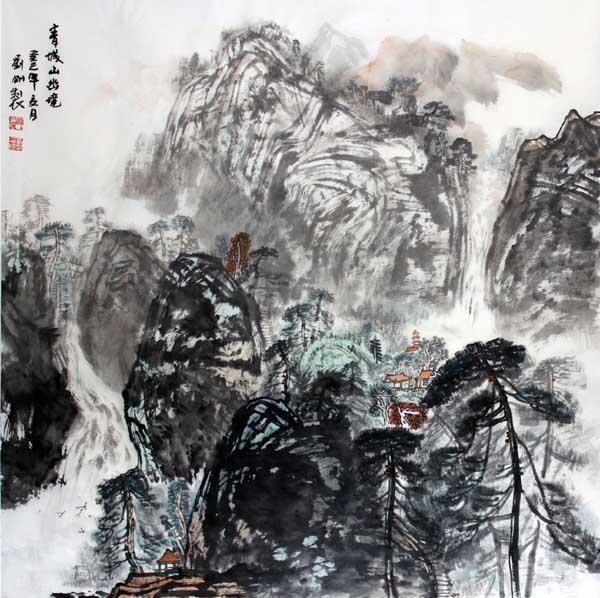 画家刘刚必威体育betway888作品欣赏-青城山幽境