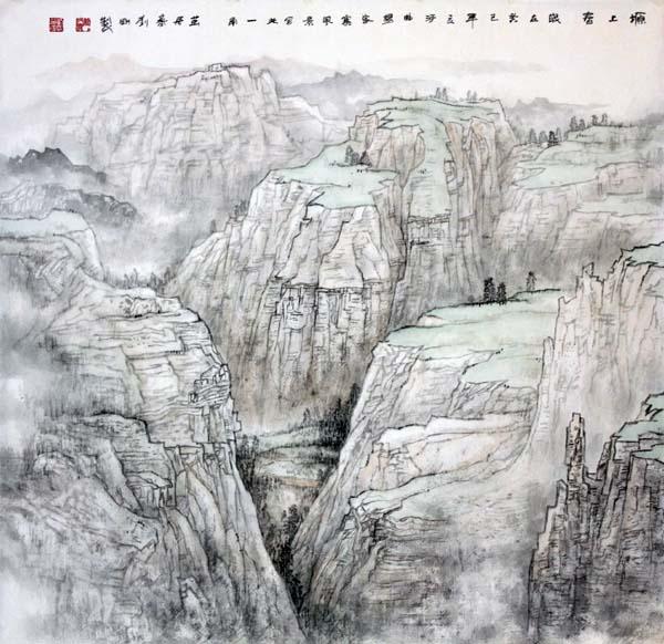 画家刘刚必威体育betway888作品欣赏-塬上春