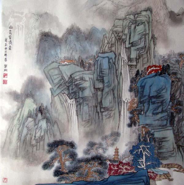 画家刘刚必威体育betway888作品欣赏-山水有清音
