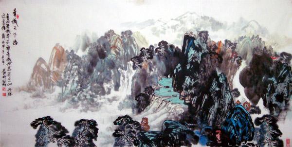 画家刘刚必威体育betway888作品欣赏-青城天下幽