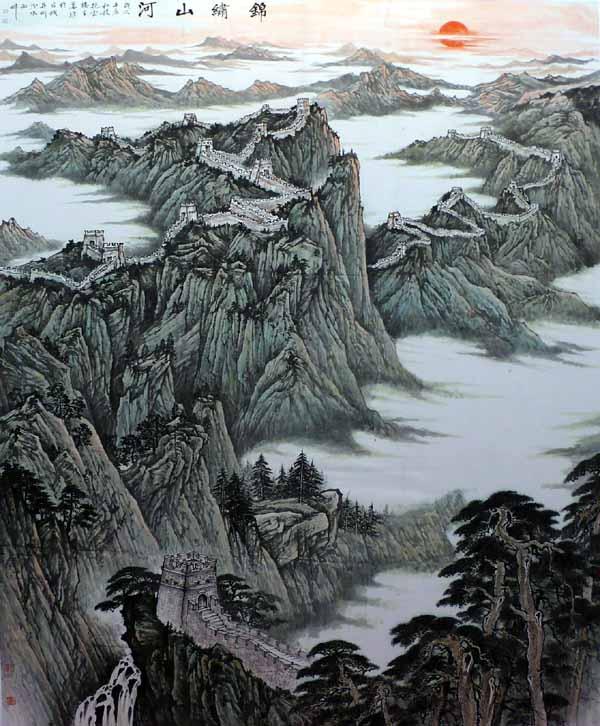 画家姜维中国画作品欣赏-锦绣山河