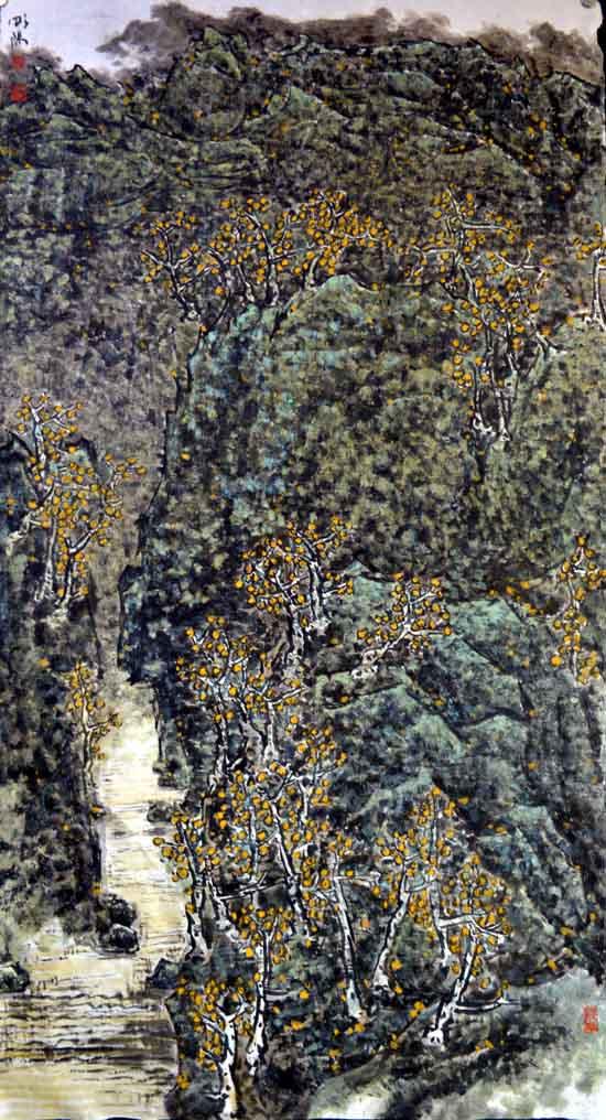 画家唐朝阳先生作品欣赏-印象长白190cmx96cm