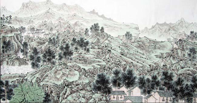 《嵩岳人家》94x178cm