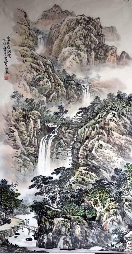 画家安明远先生作品:泉临香涧落