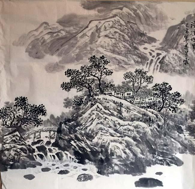 画家安明远先生作品:清凉世界