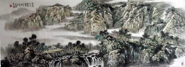 画家安明远先生作品:漫随山色听泉声