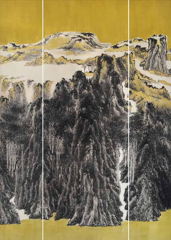 孙晓君作品:层峦烟霭  230X165CM