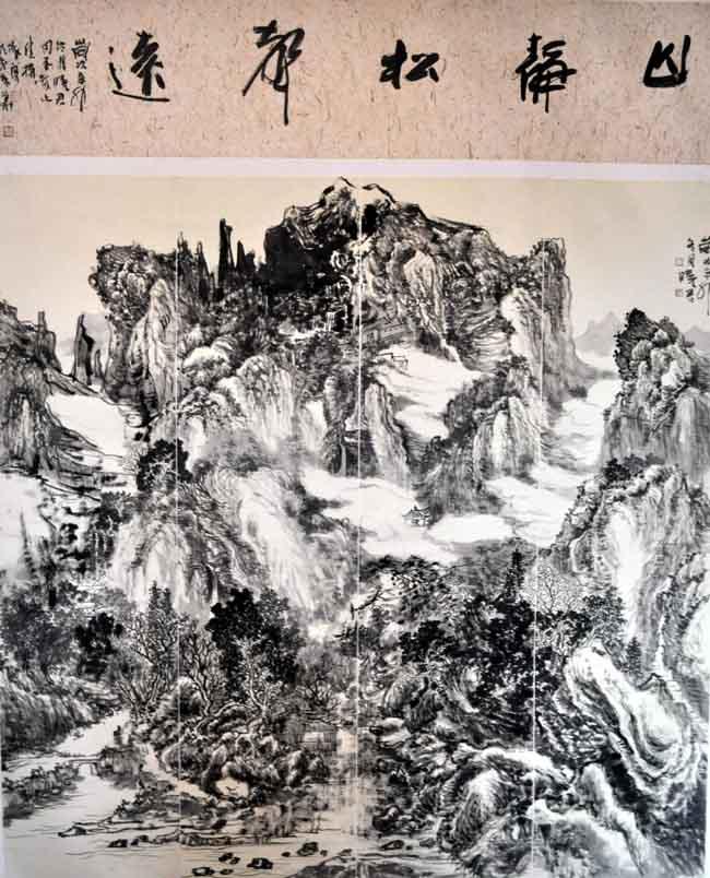 孙晓君作品:山静松声远 130X 180CM 创作于2011年,纸本