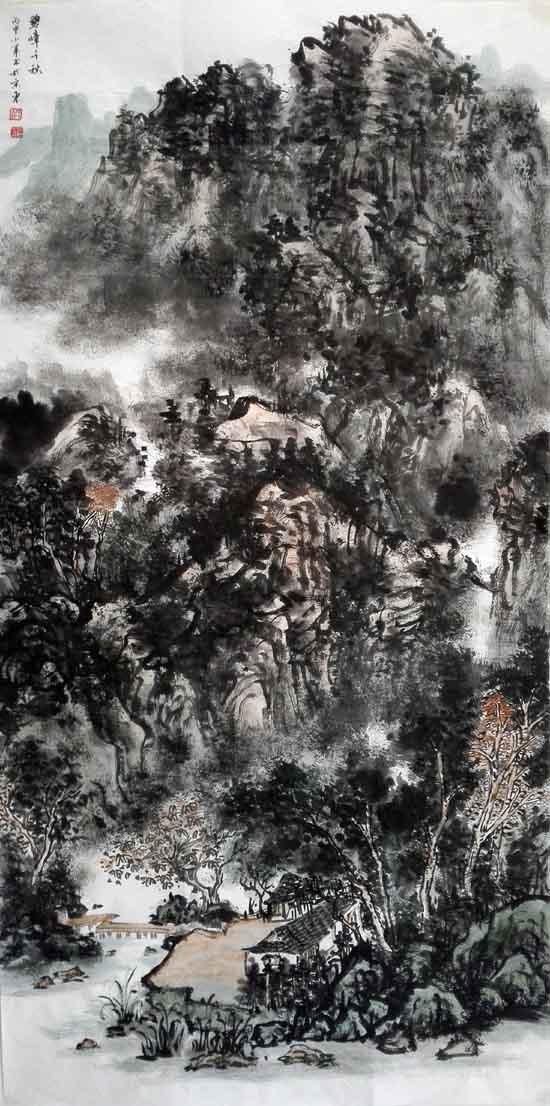 画家孙晓君作品欣赏:孙晓君 碧嶂千秋68×136