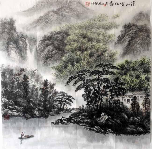 金绍林必威体育betway888作品:溪山云初起