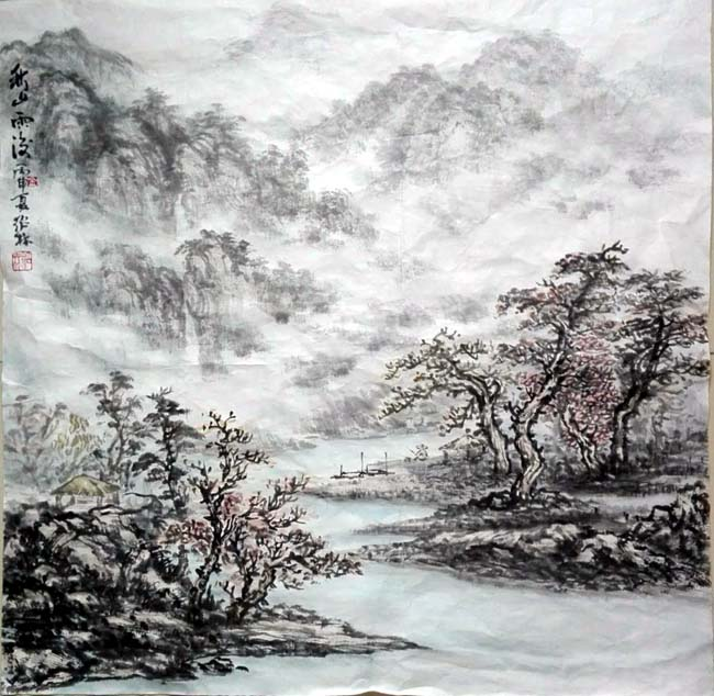 金绍林必威体育betway888作品:秋山雨后