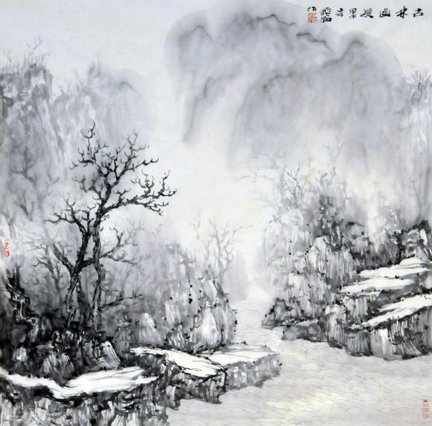 陈飞翔必威体育betway888作品:古林幽泉