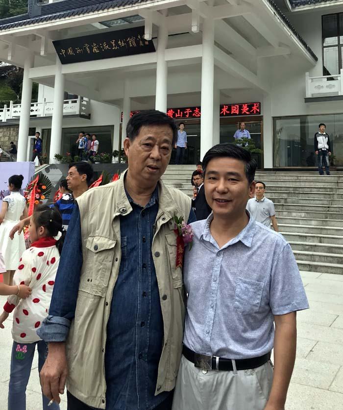 网站总编刘东方和邓子芳先生合影